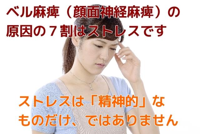 ベル麻痺(顔面神経麻痺)の原因の7割はストレスです ストレスは精神的なものだけではありません