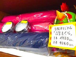 当院オリジナル「S字まくら」1本4980円 2本9860円
