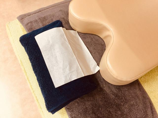 使い捨てペーパータオル使用